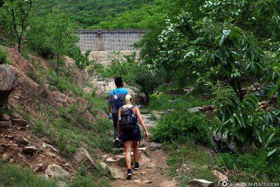 Wanderung zur Mauer