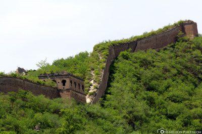 Die Lage der Mauer in den Bergen