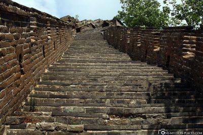 Der Weg bis nach oben