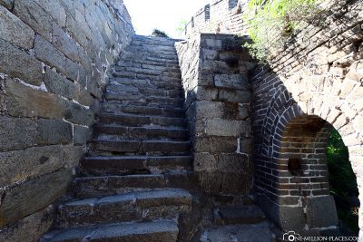 Paths through one of the watchtowers