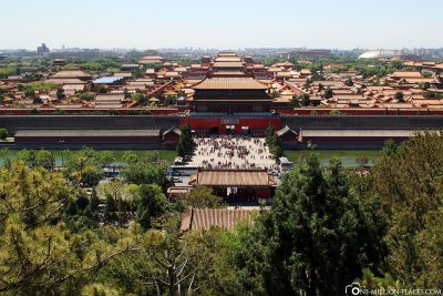 View of the Forbidden City from Jingshan Park