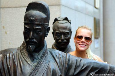 Statue on Qianmen Street