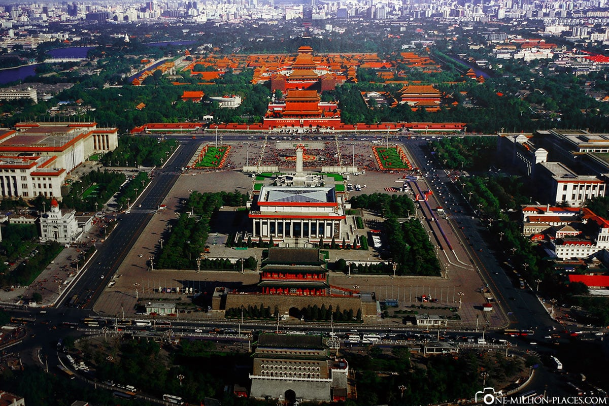 Aerial Photo, Tiananmen Square, Beijing, China, Attractions, On Your Own, City Tour, Travelreport