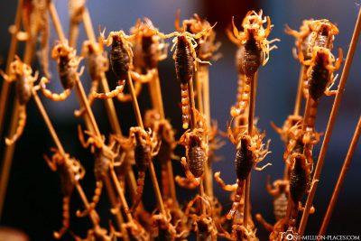 Aufgespießte Skorpione