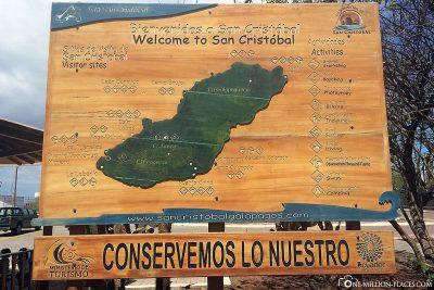 A map of San Cristobal