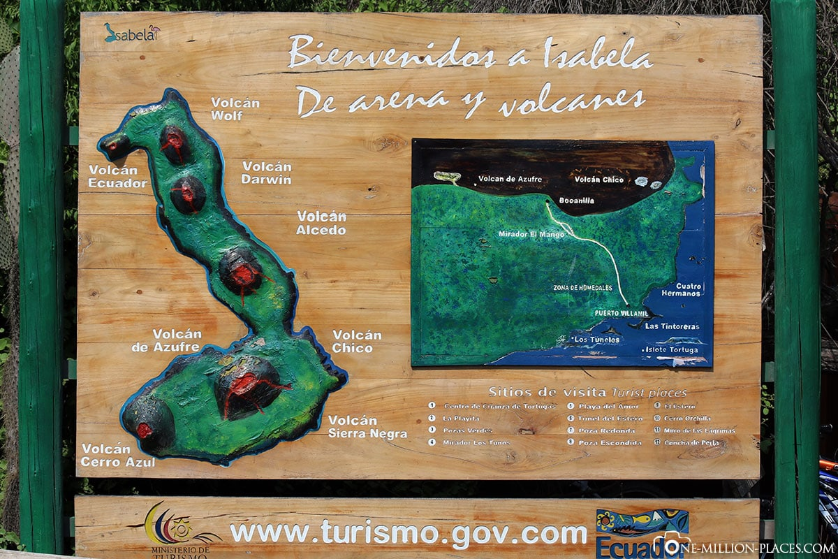Karte, Insel Isabella, Galapagos, Ecuador, Rundreise, Tierwelt, Reisebericht
