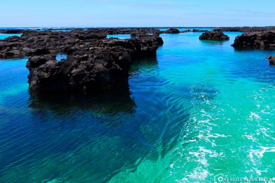 Fahrt durch klasklares Wasser