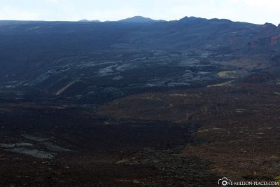 The lava fields within the crater