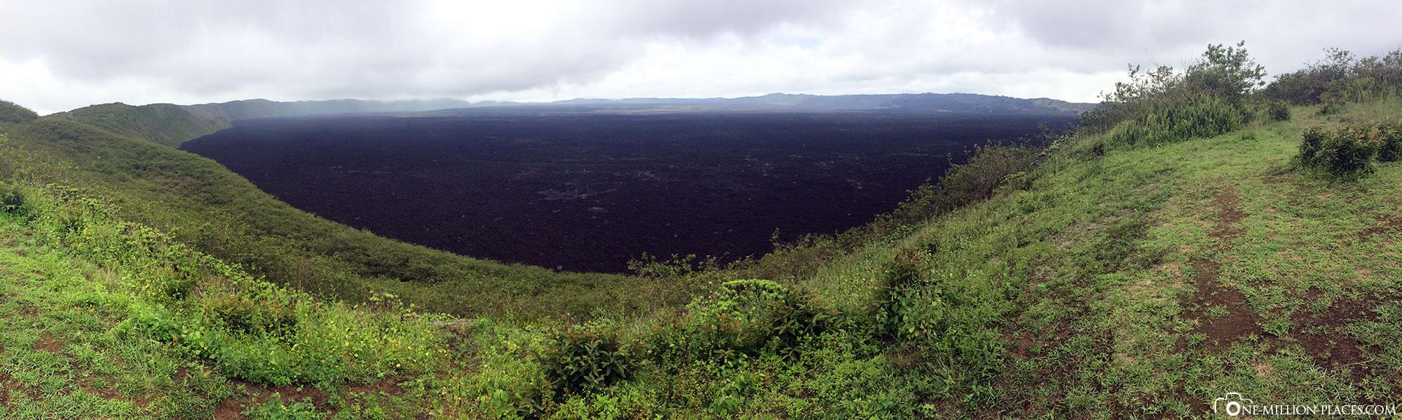 Panoramabild, Sierra Negra, Vulkan, Insel Isabella, Galapagos, Ecuador, Rundreise, Tierwelt, Reisebericht