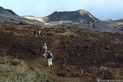 The way through the volcanic landscape
