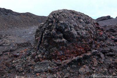 Vulkanische Gesteinsbrocken