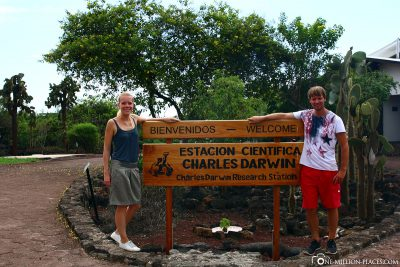 The entrance to the Charles Darwin Center