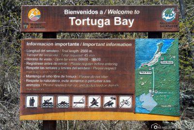 Die Tortuga Bay auf Santa Cruz