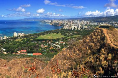 The view from Lookout Point to Waikiki