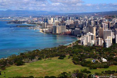 Blick auf Honolulu & Waikiki