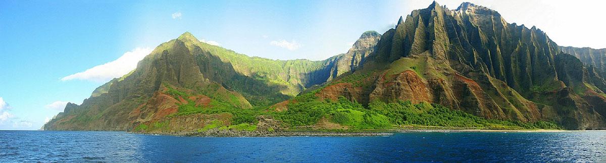 Napali Coast, Kauai, Catamaran Tour, Hawaii, USA, Travel Report