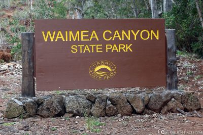 The entrance to the National Park