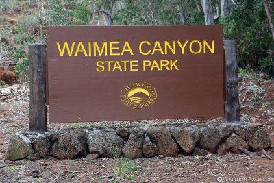 Der Eingang zum Nationalpark