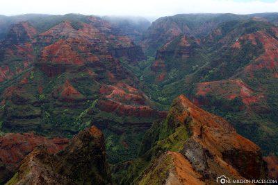 Die Aussicht auf den Canyon