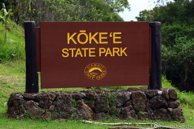 The entrance to Kokee State Park