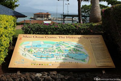 Map of Maui Ocen Center