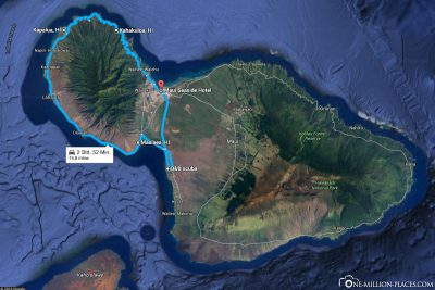 Our route along the west coast of Maui