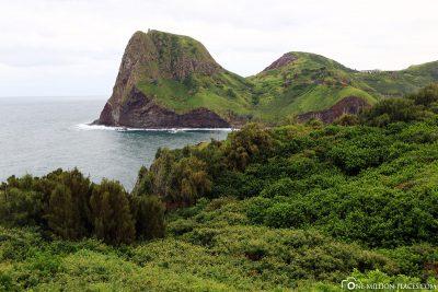 Along the coastal road 340 in Maui