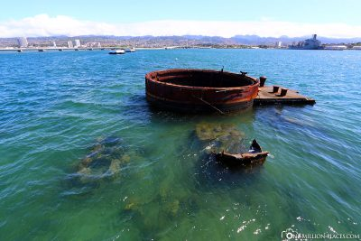 The sunken USS Arizona