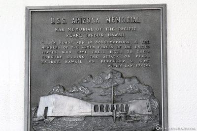 Gedenktafel USS Arizona