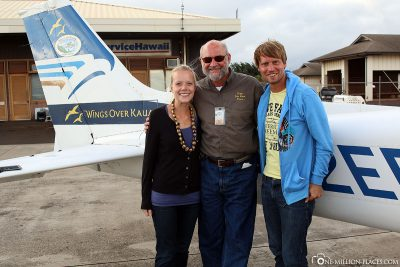 Our pilot Bruce from Wings over Kauai