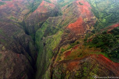 Round trip over Waimea Canyon