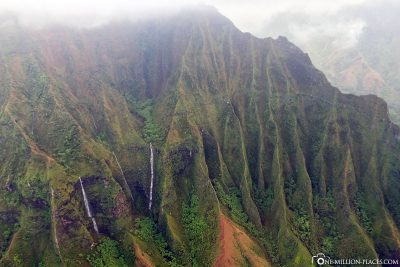 Waterfalls on the Napali Coast