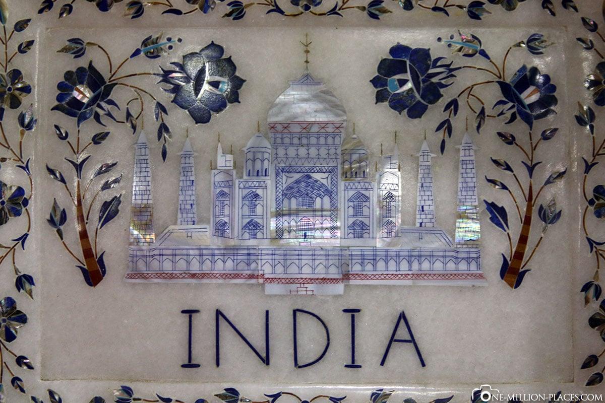 Mosaikwerkstatt, Agra, Indien, Tour, Sehenswürdigkeiten, Fotospots, Reisebericht