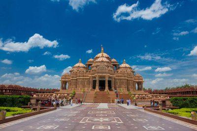Der Hindu-Tempel Akshardham in Delhi