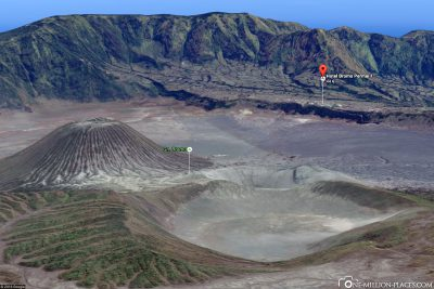 The location of the hotel on Mount Bromo