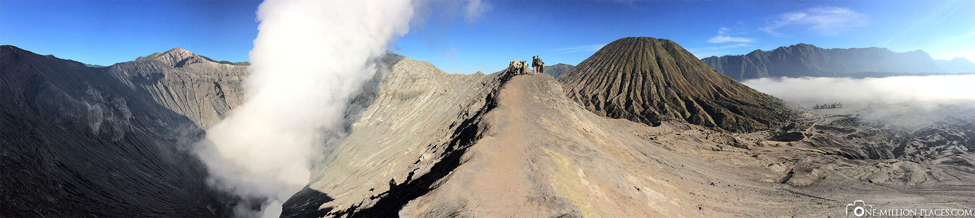 Panoramic view, Mount Bromo, Crater, Java Island, Indonesia, Tour, Travelreport