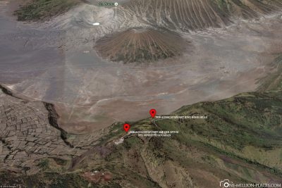 The location of the viewpoints in Google Maps