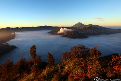 The sunrise at Mount Bromo