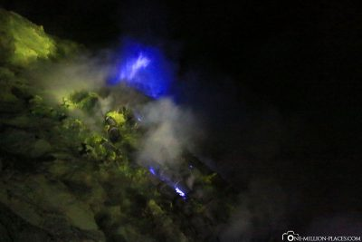 The Blue Flames of Ijen Crater