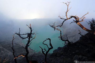 The crater lake Kawah Ijen