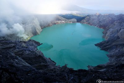 View of the crater lake