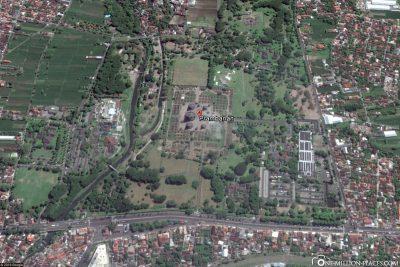 Die Lage des Tempels in Google Maps