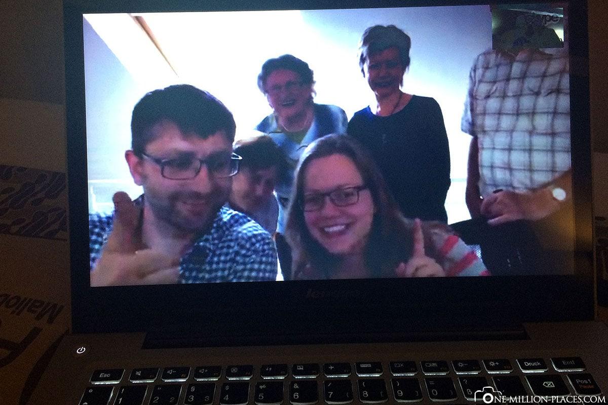 Weltreise, Skypen mit der Familie, Reisebericht