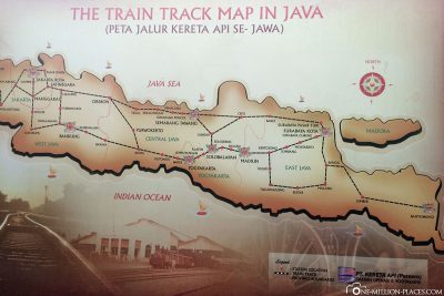The train routes on Java