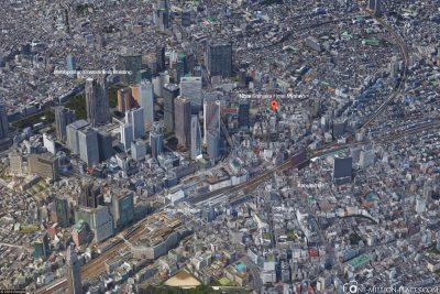 Die Lage unseres Hotel in Tokio