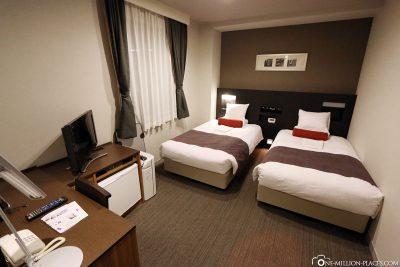 Unser Zimmer im Nishi Shinjuku Hotel Mystays