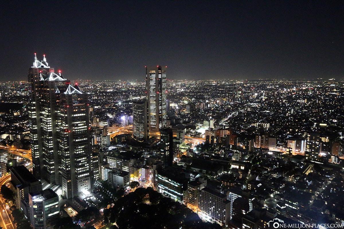 Skyline, Night, Tokyo, Japan, Attractions, Own, City Tour, Travelreport