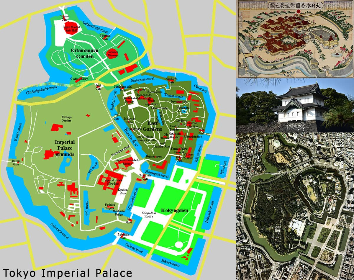 Map, Imperial Palace, Tokyo, Japan, Attractions, Own, City Tour, Travelreport