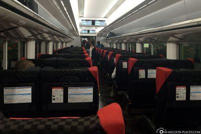 Das Abteil des Narita Expresszug