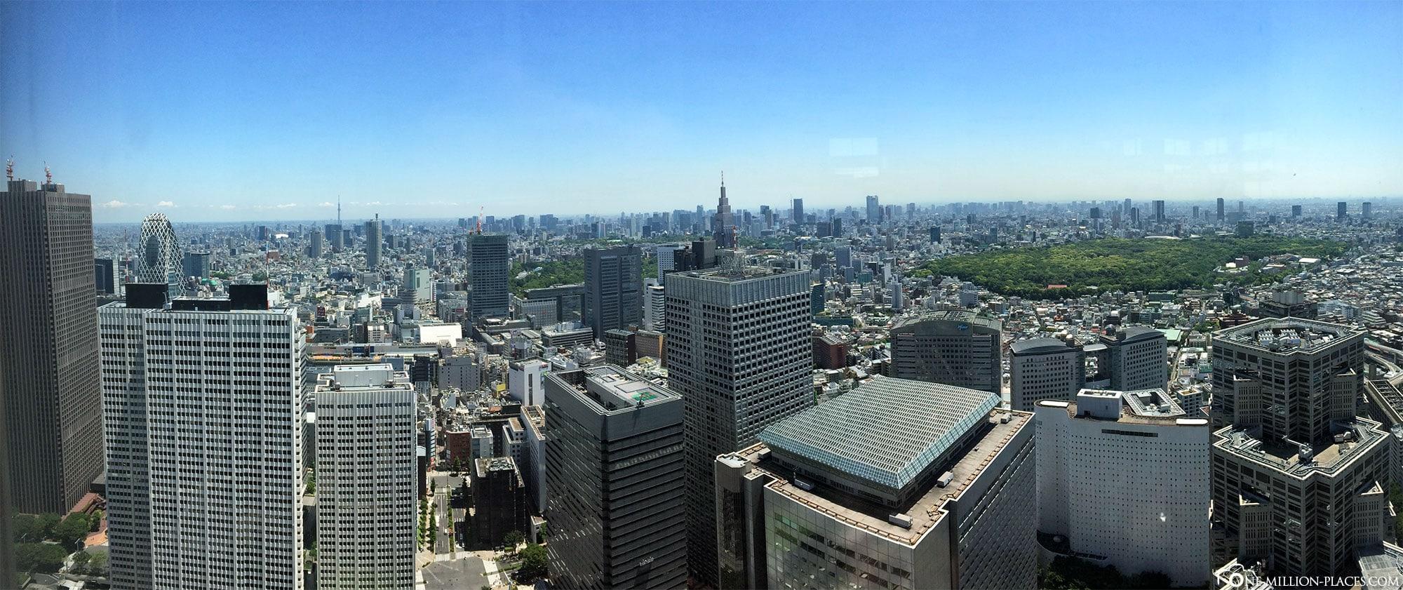 Panoramabild, Tokio, Japan, Sehenswürdigkeiten, Auf eigene Faust, Stadtbesichtigung, Reisebericht